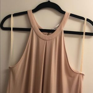 Light pink BCBG high neck dress